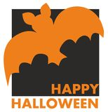 Happy Halloween party vector card Royalty Free Stock Images