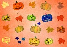 Happy Halloween Pattern Stock Images