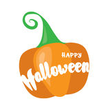 Happy Halloween post card design. Simply vector illustration Royalty Free Stock Photos