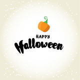 Happy Halloween post card design. Simply vector illustration Stock Image