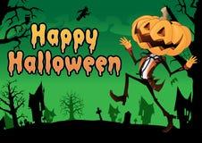 Happy Halloween Postcard. Stock Images