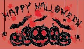 Happy halloween postcard Stock Images