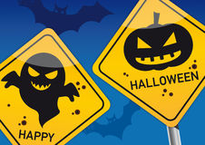 Happy Halloween postcard Royalty Free Stock Photos