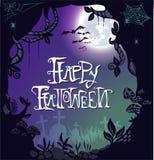 Happy Halloween Postcard invitation background Royalty Free Stock Image