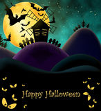 Happy HAlloween Postcard Stock Photography