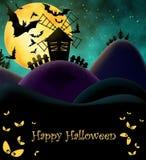 Happy HAlloween Postcard Stock Photography