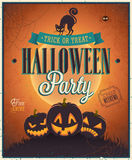 Happy Halloween Poster. Royalty Free Stock Photos