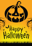 Happy Halloween. Halloween poster for advertising and parties Royalty Free Stock Photos