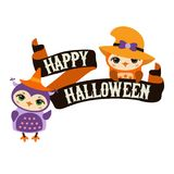 Happy Halloween poster Stock Images