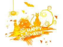 Happy Halloween Poster, Banner or Flyer. Royalty Free Stock Photos