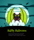 Happy Halloween Poster with Bat Royalty Free Stock Images