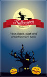 Happy Halloween Poster. Halloween card for holiday. Halloween poster with pumpkins vector illustration
