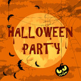 Happy Halloween Poster For Design. Vector Illustration. Banner Royalty Free Stock Photos