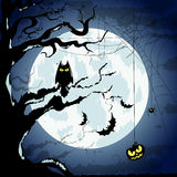Happy Halloween Poster For Design. Vector Illustration. Banner Royalty Free Stock Images