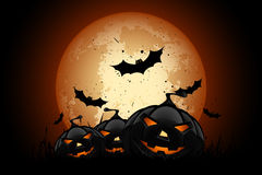 Happy Halloween Poster. Holiday Illustration. Stock Photos