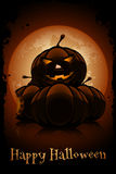 Happy Halloween Poster. Holiday Illustration. Royalty Free Stock Photography