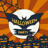 Happy Halloween. Poster for the holiday party Royalty Free Stock Image