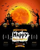 Happy Halloween poster, Invitation for party, Mix of Various Spo Royalty Free Stock Images