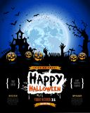Happy Halloween poster, Invitation for party, Mix of Various Spo Stock Photos
