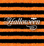 Happy Halloween Poster. Light Holiday Background Royalty Free Stock Image