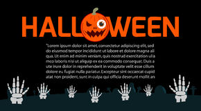Happy Halloween Poster Party and theme design background, Template for advertising brochure. Vector Illustration Royalty Free Stock Photo