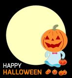 Happy Halloween Poster Party and theme design background, Template for advertising brochure. Vector Illustration Stock Photos