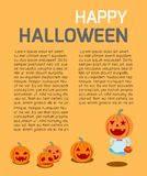 Happy Halloween Poster Party and theme design background. Template for advertising brochure,your text, Vector Illustration Royalty Free Stock Image