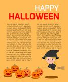 Happy Halloween Poster Party and theme design background. Template for advertising brochure,your text, Vector Illustration Royalty Free Stock Photo