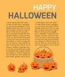 Happy Halloween Poster Party and theme design background. Template for advertising brochure,your text, Vector Illustration Stock Photography