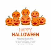 Happy Halloween Poster Party and theme design background. Template for advertising brochure,your text, Vector Illustration Stock Photos