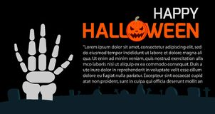 Happy Halloween Poster Party and theme design background, Template for advertising brochure. Your text, Vector Illustration Stock Photo