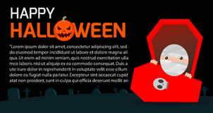 Happy Halloween Poster Party and theme design background, Template for advertising brochure. Your text, Vector Illustration Stock Images