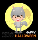 Happy Halloween Poster Party and theme design background, Template for advertising brochure. Your text, Vector Illustration Royalty Free Stock Image