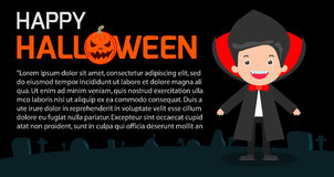 Happy Halloween Poster Party and theme design background, Template for advertising brochure. Your text, Vector Illustration Royalty Free Stock Photo