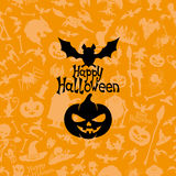 Happy Halloween poster. Royalty Free Stock Image