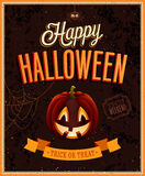 Happy Halloween Poster. Royalty Free Stock Photos