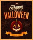 Happy Halloween Poster. Vector illustration Royalty Free Stock Photos