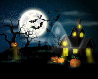 Happy Halloween Poster. Vector illustration stock illustration