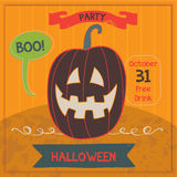 Happy Halloween Poster. Vector illustration Royalty Free Stock Images