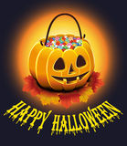 Happy Halloween Poster. Vector illustration. Royalty Free Stock Image