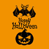 Happy Halloween poster. Royalty Free Stock Photo