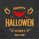 Happy Halloween Poster Stock Images