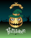 Happy Halloween Poster. Royalty Free Stock Photography