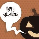 Happy Halloween Poster. Vector illustration. Stock Photo
