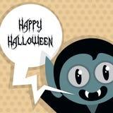 Happy Halloween Poster. Vector illustration. Stock Photography