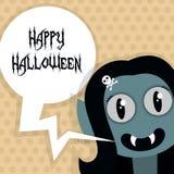 Happy Halloween Poster. Vector illustration. Stock Image