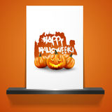 Happy Halloween Poster. Vector illustration. Stock Photo