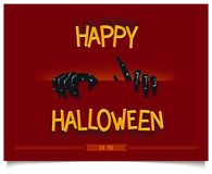 Happy Halloween poster Royalty Free Stock Photography