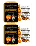 Spooky Seeds for Halloween - Trick-or-Treaters. Happy Halloween Royalty Free Stock Images