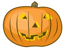 Happy Halloween Pumpkin. Illustration of a smiling Halloween Jack O Lantern Royalty Free Stock Image